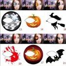 Scary Makeup Halloween Temporary Eye Tattoo Eyeshadow Eyeliner Transfer Sticker