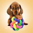Fun Cool Pet Dog Puppy Dental Teething Healthy Teeth Chew Training Play Ball Toy