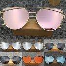 New Women's Retro Design Mirrored Metal Frame Sunglasses Shades Glasses Eyewear