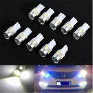10x T10 White W5W 5630 6-SMD LED Car Wedge Side Light Bulb Lamp 168 194 192 158