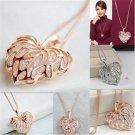 New Fashion Women Gold Plated Heart Bib Statement Chain Pendant Necklace Jewelry