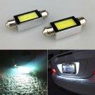 2PCS White Xenon 36mm Car COB LED License Plate Light 6418 C5W LED Bulbs 12V FT
