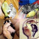 1PCS Pet Cat Interactive Kitten Chewing Cat Toys Stuffed Fish Mint Pet Kitten FT