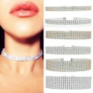 Fashion Women Full Diamond Crystal Rhinestone Choker Necklace Wedding Jewelry FT
