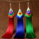 Fashion Women Bohemian Vintage Long Tassel Fringe Boho Hook Dangle Earrings FT