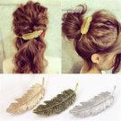 Leaf Feather Women's Gold/Silver Hair Clip Hairpin Barrette Bobby Pins Hair Accs