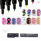 #1 White Nail Art Pen Painting Design Tool Drawing For UV Gel Polish Manicure FT