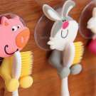 Fun Rabbit Cartoon Animal Sucker Toothbrush Wall Holder Suction Cup Bathroom FT