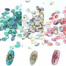 10pcs Lots Fun Colorful Nail Art Acrylic Shell Pattern DIY Decoration Jewelry FT