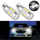 2PC 10SMD T10 White 194 W5W 5630 LED CANBUS ERROR FREE Car Side Wedge Light Bulb