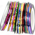 hot!10Pcs Mixed Colors Rolls Striping Tape Line Nail Art Tips Decoration Sticker