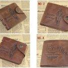 FT88 Leather Bifold Wallet Purse Pockets Card Clutch Cente Money Clip Cad Holder