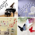 Cute Fashion Butterfly 3D DIY Wall Sticker Stickers Home Decor Room Decorations