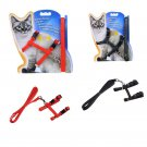 Cat Puppy Adjustable Harness Collar Nylon Leash Lead Safety Walking Rope 1PCS