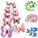 12PCS Lots 3D Butterfly Design Decal Wall Stickers Room Decorations Home Decor