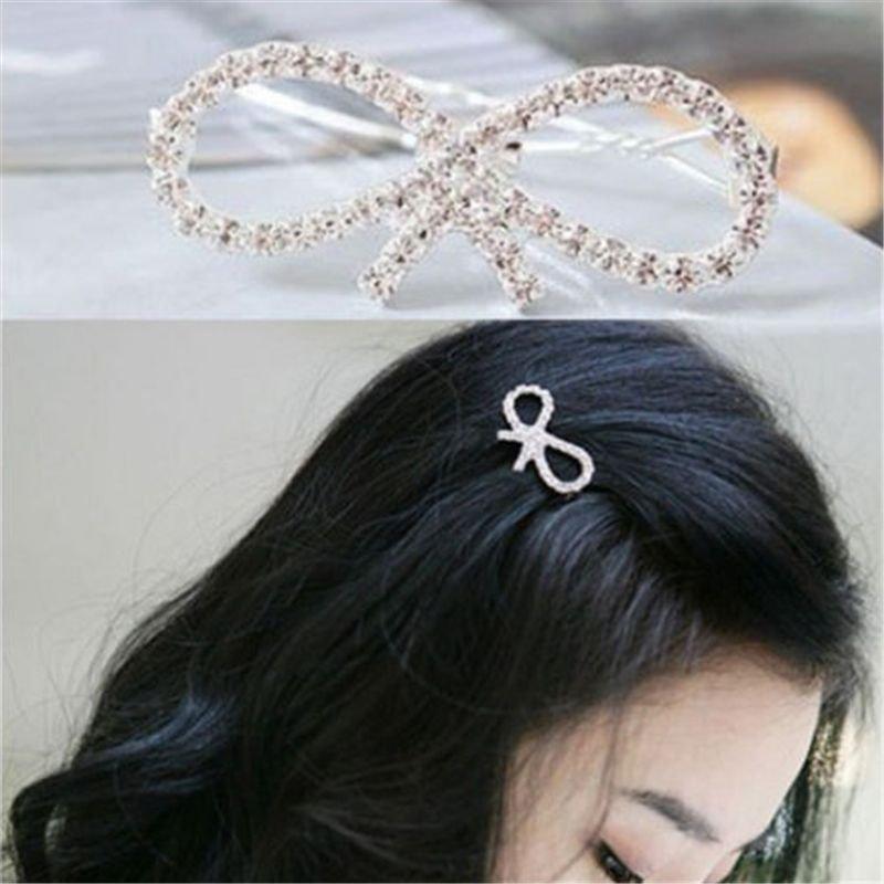 New Fashion Women Girls Crystal Rhinestone Butterfly Barrette Hair Clip Hairpin