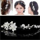 Elegant Sweet Faux Crystal Pearl Flower Bridal Headband Tiara Party Headwear New