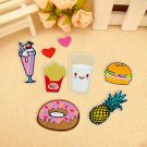 8Pcs Fabric Donuts Fruit Embroidery Sew Iron On Patch Badge Bag Clothes Applique