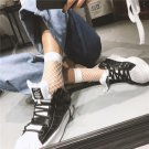 Women White Fishnet Ankle High Socks Lady Mesh Lace Fish Net Short Socks 1Pair