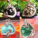 New Natural Crystal Hexagonal Gemstone Dragon Pendant Jewelry NO Necklace Chain