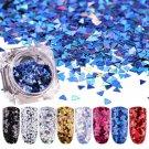 3D Nail Art Glitter Sequins Paillette Laser Triangle Manicure Tips Decoration FT