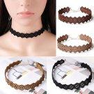 Women Velvet Flower Chain Choker Chunky Statement Bib Pendant Chain Necklace New