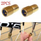 2X Small Presta to Schrader Valve Adapter Converter Bike Bicycle Cycle Pump Tube