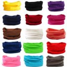 New Solid Colors Tube Scarf Bandana Head Face Mask Neck Gaiter Snood Headwear