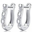 Women Charming U Shape Lady Stylish Party Gift Silver Hoop Earrings Wedding FT