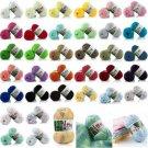Soft Chic 8Colors Cotton Bamboo Crochet Cotton Knitting Yarn Baby Knit Wool Yarn