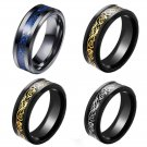 Charm Men's 8mm Band Celtic Dragon Tungsten Carbide Ring Jewelry Size 7-10 FT
