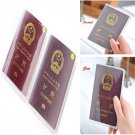 Useful Transparent Passport Cover Holder ID Card Travel Protector Organizer Case