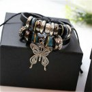 Hot Jewelry Fashion Infinity Leather Charm Bracelet Silver lots Beads Style Gift