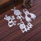 4pcs DIY Bees Cutting Stencil Silver Scrapbooking Card Diary Stamping Template F