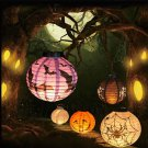 Fun Scary Halloween LED Paper Pumpkin Hanging Lantern DIY - Holiday Party Decor
