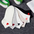 1Pair Womens Lady Heart Casual Cute Heart Ankle High Low Cut Soft Cotton Socks