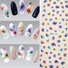 DIY Nail Art UV Gel Manicure Stickers Flowers Water Transfer Sticker Decals New