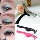 New False Eyelash Fake Eye Lash Applicator Clip Makeup Tweezer Makeup Tool FT