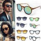 New Women Men Punk Vintage Cat Eye Sunglasses Metal Frame Unisex Round Glasses