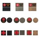 2PCS Tactical Embroidered Medical First Aid Red Cross Service Dog Patches FT