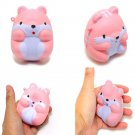 Cute LOVELY Squishy Fun Pom Pom Hamster Slow Rising Toy Squeeze Relieve Anxiet