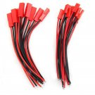 10 Pairs Male+Female JST Connector Plug Cable Line  10cm For RC BEC Lipo Battery