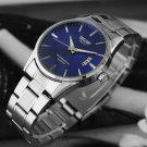 Cool Men Watch Stainless Steel Band Date Analog Quartz Sport Wrist Watch FT25