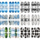 3D Nail Art Transfer Stickers Scenery Design Manicure Tips Decal Decoration FT