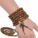 Elegant Fragrant Green Sandalwood Buddha Buddhist Prayer Beads Mala Bracelet FT