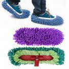Convenient 1PC Floor Polishing Cleaner Mop Slippers Dusting Cleaning Foot Shoe F