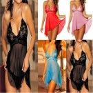 Lady Hot Lingerie Lace Dress Underwear Babydoll Sleepwear Nightwear G-string FT5