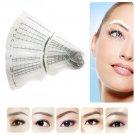 12PCS Eyebrow Grooming Shaping Stencil Kit Brow Template Makeup Shaper DIY Tool
