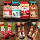 Women Lovely Winter Socks Christmas Gift Cotton Sock Cute Santa Claus Deer FT12