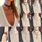 Gothic Fashion Velvet Leather Choker Rivet Pendant Fashion Necklace Jewelry Gift